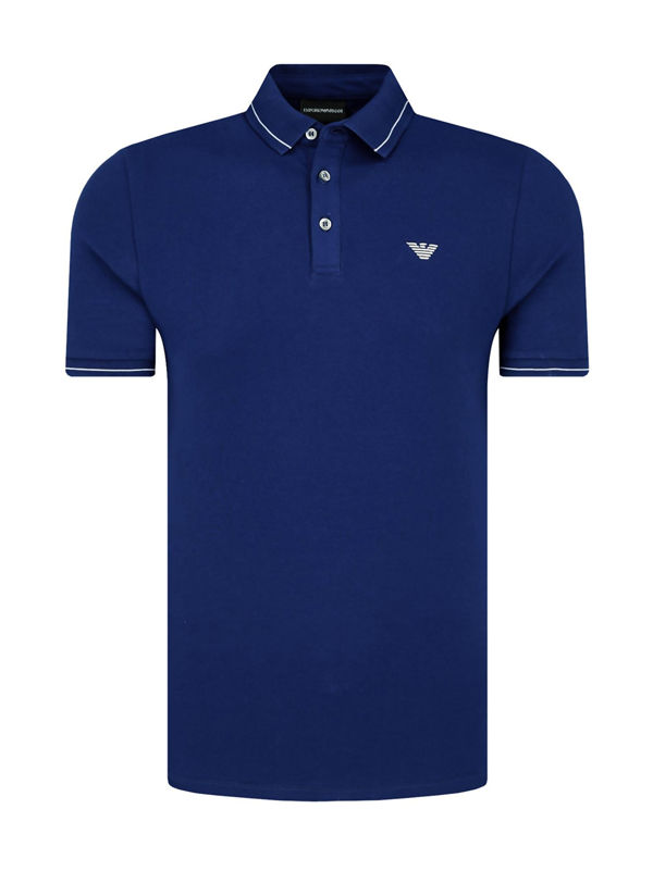cancro Fata arpione  Armani Mens Royal Blue Classic Polo Shirt | Brandedwear.co.uk